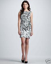 DVF Diane von Furstenberg New Della waist tie Silk dress Paint Marks Mint US 6