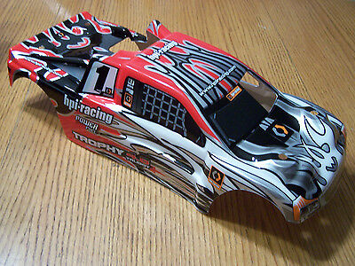 HPI Trophy 4.6 Nitro Truggy  Red Black Silver Factory Painted Body Shell 101780