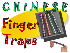 CHINESE-FINGER-TRAPS-Pack-of-40-for-party-loot-bags-pet-toys-or-just-for-fun
