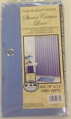 Vinyl Shower Liner With Magnets And Grommets Blue Ebay
