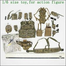 A34-25 1/6 scale DAMTOYS 78033 BRITISH ARMY OSPREY Tactical Vest MK4 BELT set