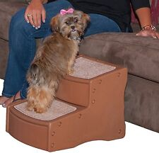 Good Pet Stairs Gear Easy Ramp 2 Steps Dog Cat Puppy Large Extra Wide Carpeted  Travel