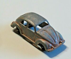"""Vintage Tootsie Toy Volkswagen Beetle Made in U.S.A. Approx 3"""" Long"""