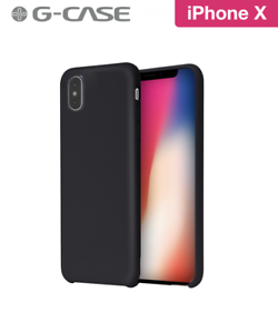 COQUE RIGIDE G-CASE ORIGINAL SERIES SILICONE IPHONE X SOFT TOUCH NOIRE BLACK