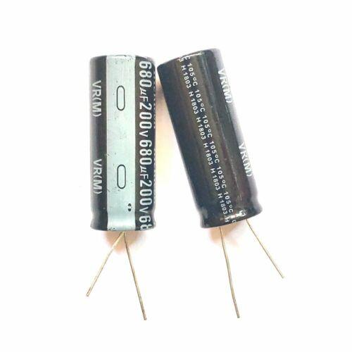 5PCS 680uF 200V 680MFD 200Volt Electrolytic Capacitor 18mm×45mm Radial NEW
