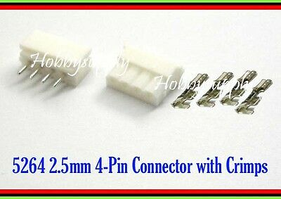 5264 2.5mm Micro 4-Pin Male Female housing Connector plug & Crimp Pin x 10 SETS