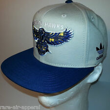 ADIDAS ORIGINALS ATLANTA HAWKS BLUE/KHAKI/PLAID FASHION STRAPBACK CAP/HAT