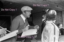 Graham Hill & Colin Chapman Lotus F1 Portrait Dutch Grand Prix 1967 Photograph