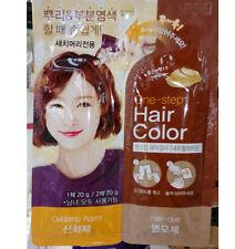 One Step Hair Color dye Cream Type Korea Natural Brown Easy Quick Like Shampoo
