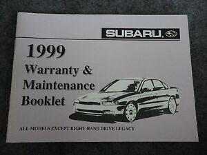 1999-Subaru-Maintenance-Owners-Manual-Supplement