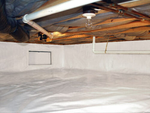 1000 sqft 4x250 Reinforced Vapor Barrier Encapsulation Pier Wrap Crawlspace Roof