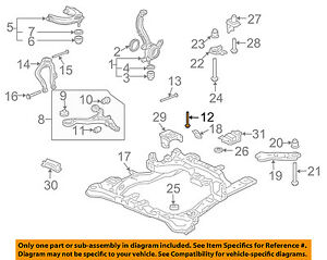Astonishing Honda Oem Front Suspension Lower Control Arm Front Bolt 90119Sdaa00 Wiring Database Gramgelartorg