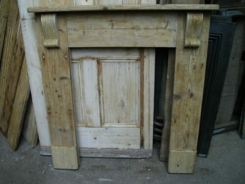 Reclaimed pine wooden fire surround mantelpiece bespoke made to order up to 1.2m