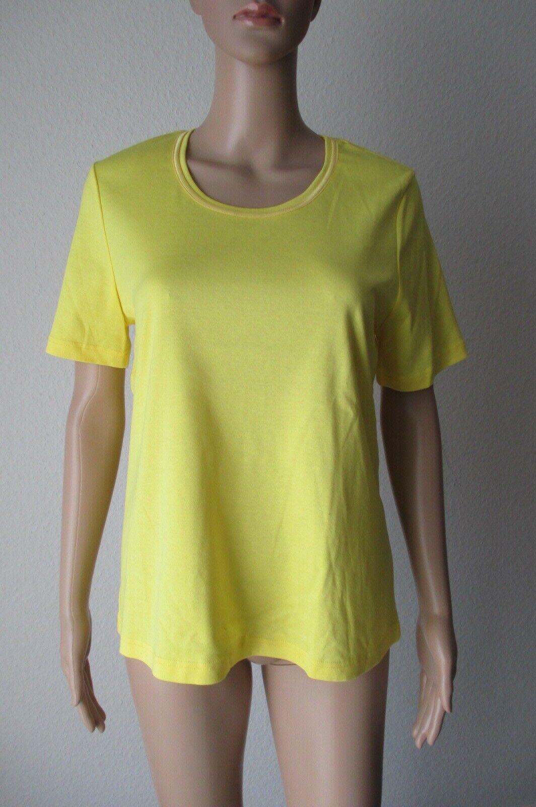 Efixelle Shirt, kurzarm in Zitronengelb, Größe 40