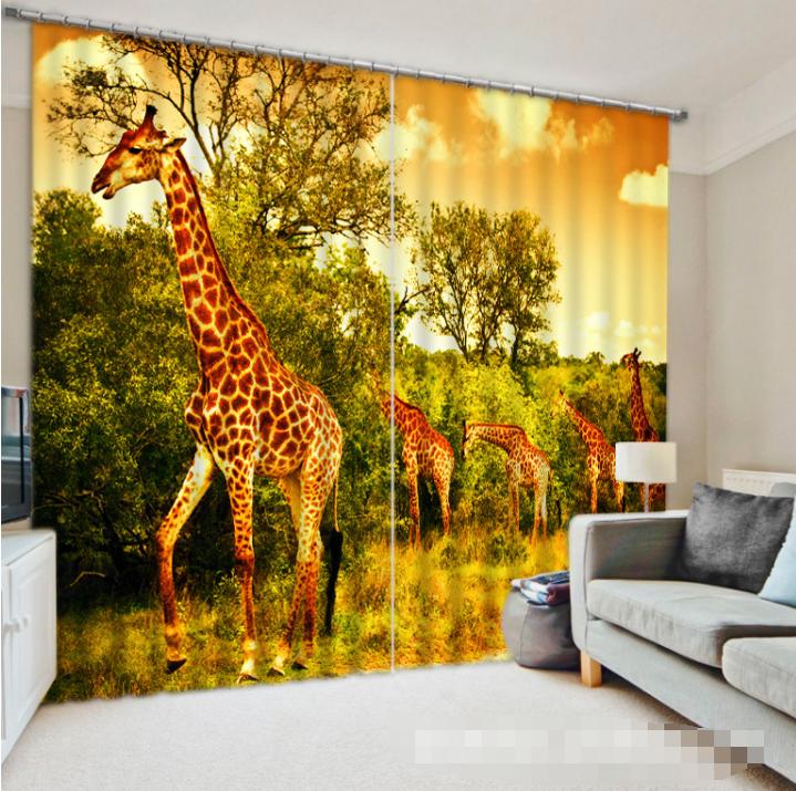 3d GIRAFFE foresta 962 blocco foto sipario pressione sipario tende tessuto finestra de