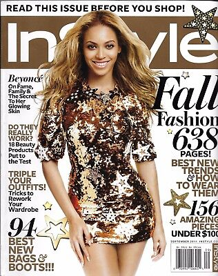 In Style magazine Beyonce The Kardashians Jessica Chastain Fall fashion Beauty