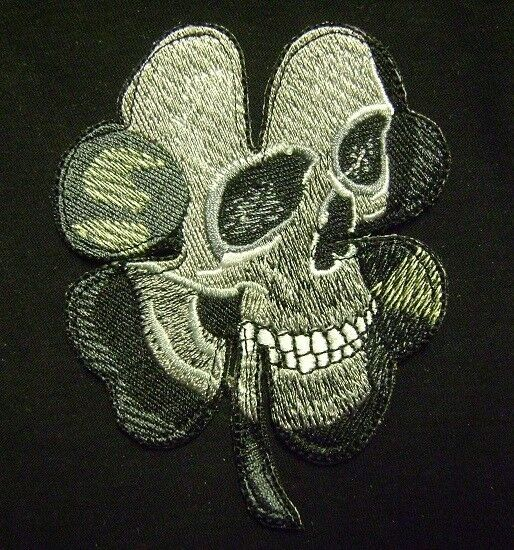 PIRATE SKULL CLOVER ARMY MILITARY BLACK OP SWAT ACU VELCRO® BRAND FASTENER PATCH