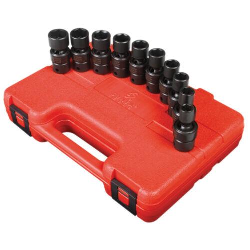 "Sunex 3657 38"" Dr. 10 Pc. CrMo Alloy Steel Metric Universal Impact Socket Set"