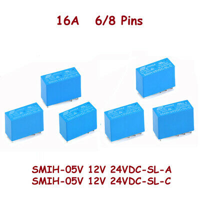 New Original Black 12V SONGLE Power Relays SRE-12VDC-SL-2C 4137 8-Pins