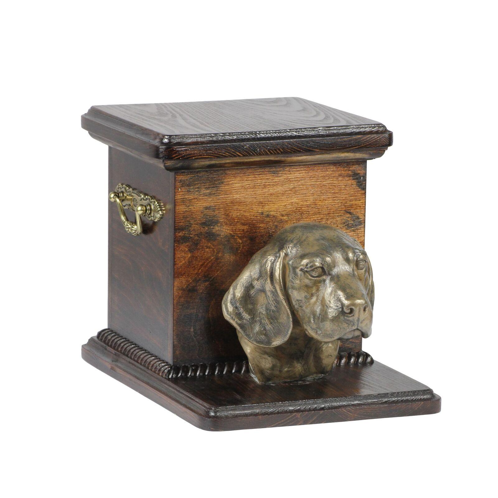 Beagle - urna di legno con l'immagine di un cane Art Dog IT Tipo 2