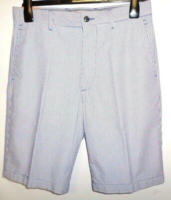 """MENS SHORTS NAVY STRIPED SIZES 30/"""" 34/"""" WAIST NEW M/&S PURE COTTON  REGULAR FIT"""