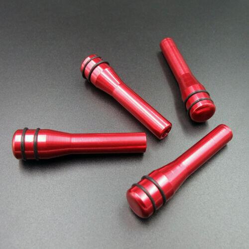 universal coche camión Interior Puerta Cerradura Perilla Pull Pin Kit Aleación de Aluminio Rojo 4 un