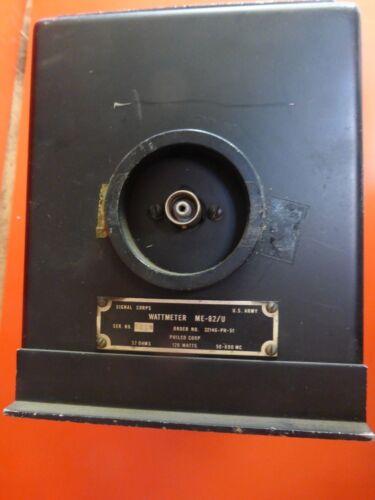 120 WATT 52 OHM FOR TESTING TRANSMITTER OUTPUT ME-82//U RF WATTMETER 50-600MHZ