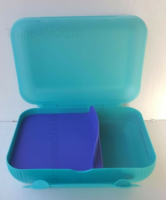 TUPPERWARE Lunch-Box Sandwich Brotdose Pausen Box Dose türkis NEU