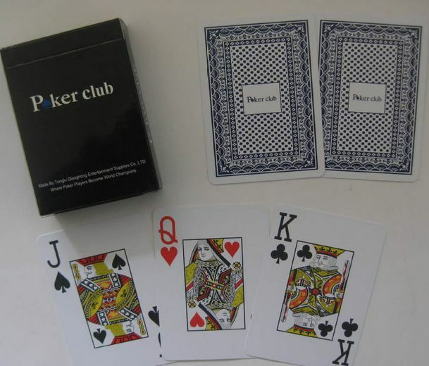 1* Poker 100% PLASTIC New Poker Size Playing Cards