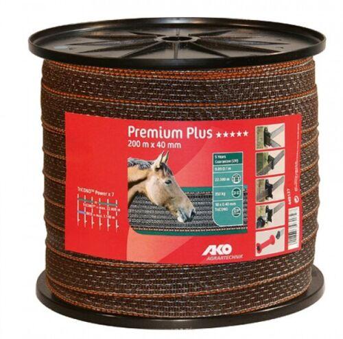 Breite 40 mm TriCOND Metallleiter 449122  Premium Plus Weidezaunband 200 m