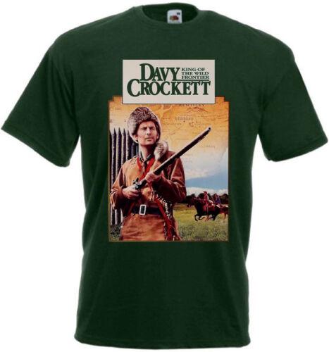 Davy Crockett v7 T-shirt vert bouteille Poster toutes tailles S... 5XL