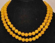 """Natural Brazilian yellow topaz 13x18mm oval Gemstone Necklace 18 /""""AAA"""