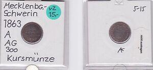1/48 Taler Silber Münze Mecklenburg-schwerin 1863 A 121182 Kleinmünzen & Teilstücke Münzen Altdeutschland Bis 1871
