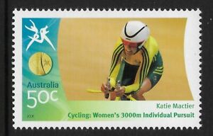 AUSTRALIA-2006-COMMONWEALTH-GAMES-Katie-Mactier-Cycling-Women-039-s-3000m-1v-MNH