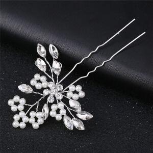 Details About Crystal Pearl Hair Pins Handmade Bridal Hair Accessories Wedding Hair Jewelry Ij