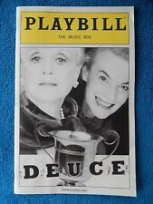 Deuce - Music Box Theatre Playbill w/Ticket - July 28th, 2007 - Angela Lansbury