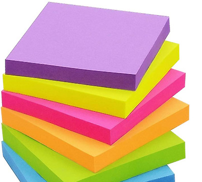 600 Colorful Sticky Notes 3x3 Inch