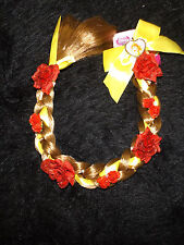Beauty and the Beast Belle braid new Disney Princess hair insert easy in roses