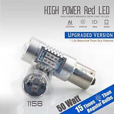 2X 1156 50W High Power LED Red Turn Signal Brake Tail Light Bulbs