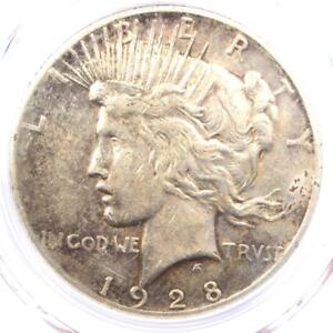 1928-Peace-Silver-Dollar-1-PCGS-XF-Details-EF-Rare-1928-P-Key-Date-Coin