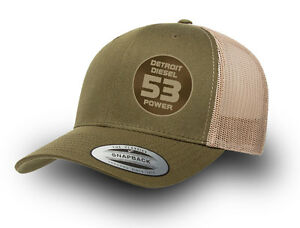 DETROIT DIESEL 53 POWER RETRO TRUCKER CAP   DETROIT DIESEL TRUCKER CAP RETRO