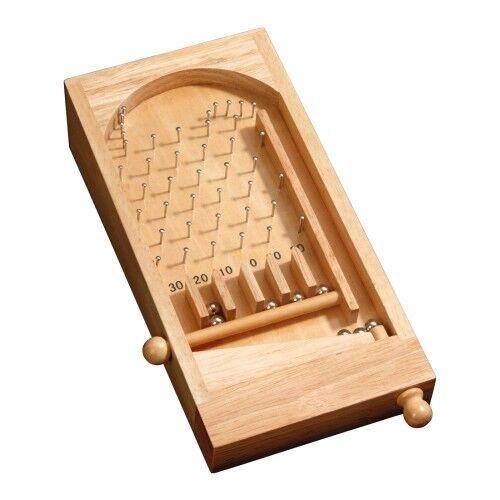 mit Metallkugeln Mini Bingo Tischspiel Hevea-Holz