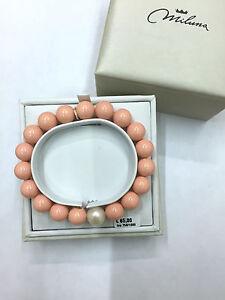 bracciale-Miluna-TERRA-E-MARE-PBR2084-ORO-perle-ROSA-PASTA-DI-CORALLO-PINK