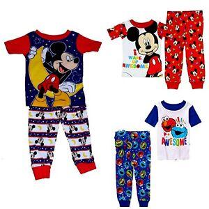 3b2faa300 Boys  2-Piece Pajamas Sesame Street Elmo Cookie Monster Disney ...