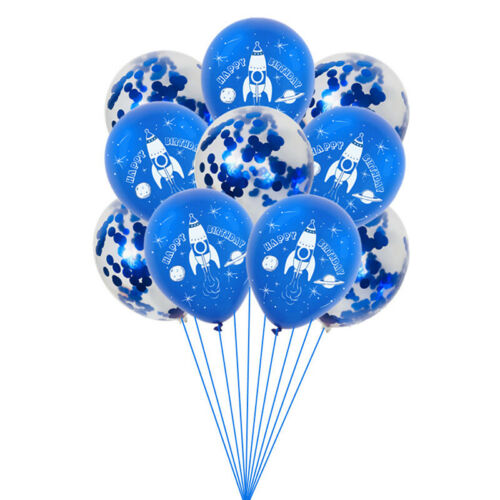 10//15Pcs Outer Space Party Astronaut Balloons Galaxy Theme Birthday Party FavoSP