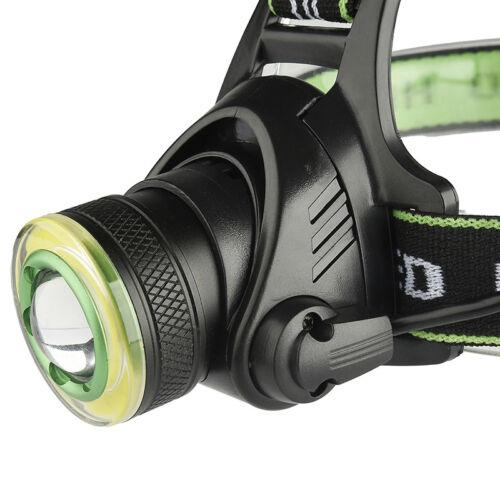 Rechargeable XML-T6+COB Headlamp 18650 Headlight Head Lamp Torch  RDR