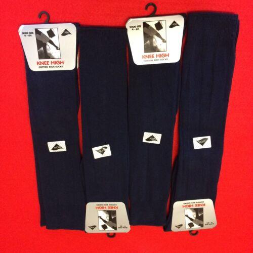 Ladies Womens Girls Knee High Cotton Sock Long Plain Children Kids School Socks