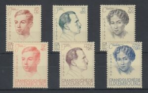 Lussemburgo 1939 Caritas MER. n. 333-338 Set inutilizzato *