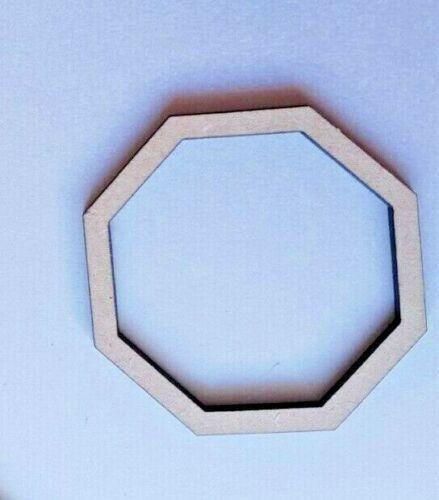 Bois Octogone Formes Laser Coupe MDF Taille Options