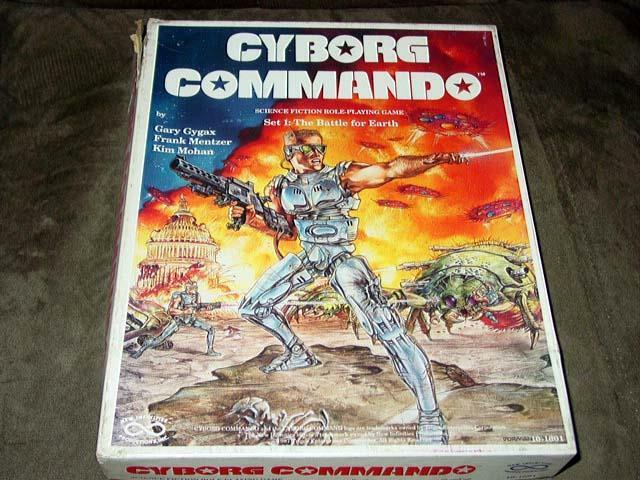 CYBORG COMMAND SciFi Role-playing game game game  Original COLLECTOR'S EDITION  GARY GYGAX aeab4f